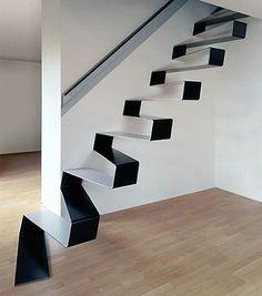 Elegant Black Stairs Design
