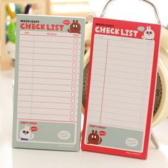 Checklist (To Do List Post) Memo Pad //Price: $5.99 & FREE Shipping //   #lovehippiecat #paper #scrapbooking #craft #papercrafts