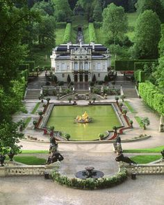Linderhof castle, Bavaria Germany.