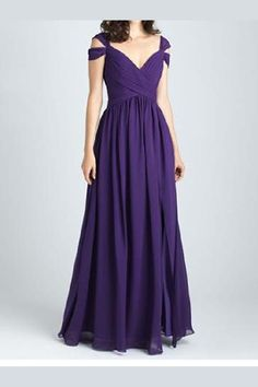 6298cd1cabcdb Enticing Long, Purple, V-Neck, Backless. Purple Bridesmaid DressesPurple  DressWedding ...