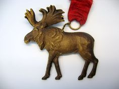 Antique Dresden paper Reindeer Christmas ornament from quirkyantiques on Ruby Lane