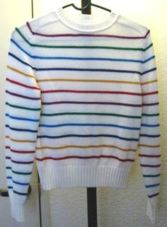 Rainbow sweater. One of my favorite sweaters! Underneath it was either an oxford shirt or polo shirt to get the proper collar.