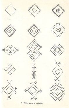Image Embroidery Tools, Folk Embroidery, Hand Embroidery Designs, Embroidery Patterns, Ancient Symbols, Ancient Art, Romanian Lace, Foto Transfer, Poke Tattoo