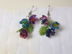 Shrink Plastic Flower Earrings by karjor - Cards and Paper Crafts at Splitcoaststampers