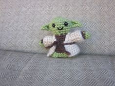 Yoda Crochet Doll - Jedi Master Amigurumi - Newborn Photo Prop - Crochet Yoda - Yoda Plush Toy - Crochet Figure - crochet Yoda Doll Figurine - pinned by pin4etsy.com