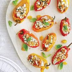 Stuffed Peppers with Chèvre, Pecans, and Golden Raisins | MyRecipes.com