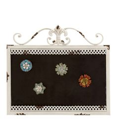 This White Iron Magnet Board is perfect! #zulilyfinds