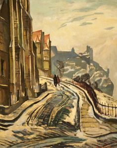 View from the Mound, Edinburgh, Looking West  by William Crozier    Date painted: c.1929