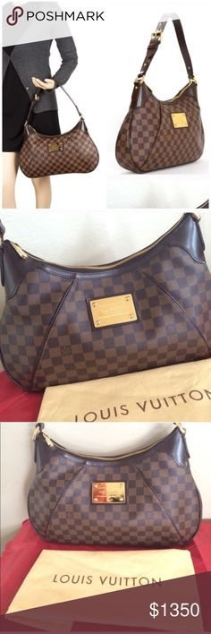 LOUIS VUITTON THAMES GM Beautiful shoulder bag.. 100% authentic. Great condition with very little sign of use. Middle part of the buckle is bent to one side.. easy fix.Purchased here and never used myself. Please see pictures.. I have two more listings with more pictures. Any questions just ask.             It was sold but because of the unconfirmed payment method posh canceled it Louis Vuitton Bags