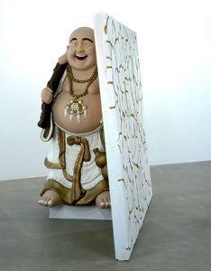 Rachel Harrison. Buddha with Wall, 2004. Art Experience:NYC http://www.artexperiencenyc.com/social_login