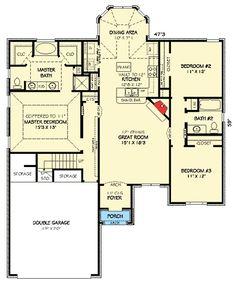 Compact European Home Plan - 30737GD | 1st Floor Master Suite, Bonus Room, European, Narrow Lot, PDF, Split Bedrooms | Architectural Designs