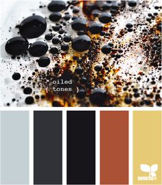 oiled tones - the greys and black plus red accents = perfect color palette for Jeremy's studio in our future dream home =) Colour Pallette, Color Palate, Colour Schemes, Color Combos, Room Colors, House Colors, Colours, Paint Colors, Pantone