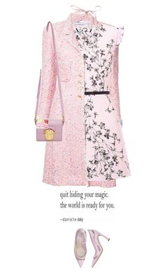 """*1746"" by cutekawaiiandgoodlooking ❤ liked on Polyvore featuring Chanel, Miss Selfridge, Christian Dior, Dolce&Gabbana, Sanders, Pink, floraldress and monochromepink"