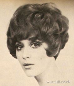 1969 Peter Bernatzsky curls hairstyle    Hair was cut tight into the nape with soft waves through the top with volume     Hairstyle by: Peter Bernatzsky