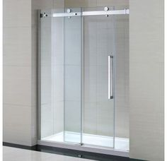 """View the Miseno MSDC6082 81-1/2"""" High x 60"""" Wide Frameless Shower Door for Alcove Installations - Acrylic Shower Base Included at Build.com."""