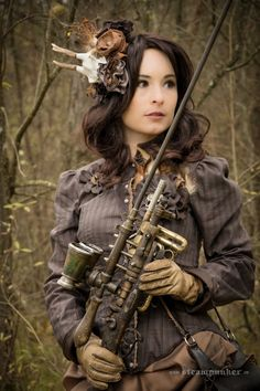 Steampunk Artwork: Steampunk Shooting - Hunting