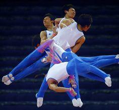 Olympic Multiple Exposures   Matrix Gymnastics