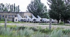 Russian abandoned air force base just the bodies, everything else stripped away