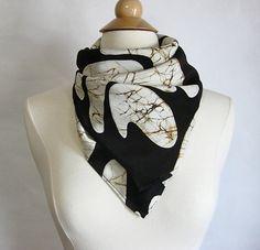 Hand made scarf Silk  Batik Scarf Silk Scarf with by SHANInewyork, $58.00