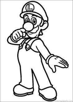 Printable Mario Coloring Pages   Coloring, Birthdays and Boys