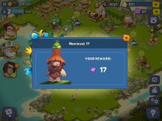 Adventure Era | Level Unlocked | UI HUD User Interface Game Art GUI iOS Apps Games | www.girlvsgui.com