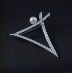 Abstract Pearl Pin by swallowtailstudio on Etsy