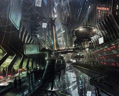 tumblr_n0jgyffITp1ruv9tco1_1280.jpg 1 278×1 037 pikseliä | Sci-Fi Futuristic Cyberpunk City Metropolis Concept