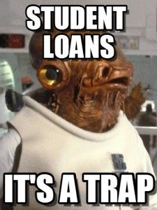 It's a #studentloan meme kinda day #studentdebt #highered #edchat #StarWars