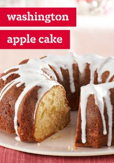 Washington Apple Cake – Here's a cake George Washington would approve of. A moist apple cake served with sweet sour cream icing, this is a presidentially flavorful dessert.