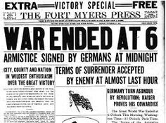 Image result for ww1 armistace headline