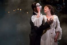 NORM LEWIS as The Phantom and MARY MICHAEL PATTERSON as Christine