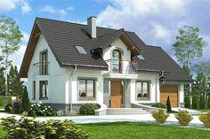 projekt Dom Dla Ciebie 3 z garażem 1-st. [A] WRF1868 Self Build Houses, Design Case, Home Fashion, Future House, Building A House, Gazebo, Sweet Home, Shed, Villa