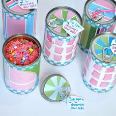 Cake in a Can Surprise   Fun Family Crafts Coin Purse Pattern, Purse Patterns, Sewing Patterns, Cake In A Can, Family Crafts, Dollar Tree Finds, Scrap Busters, Key Pouch, Birthday Fun