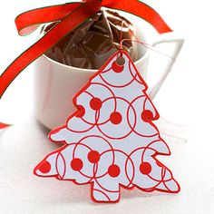 Christmas Tree Gift Tag to print
