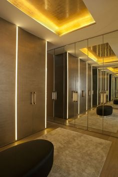 Francis Sultana — London Park Apartment - fantastic use of mirror and gilded…