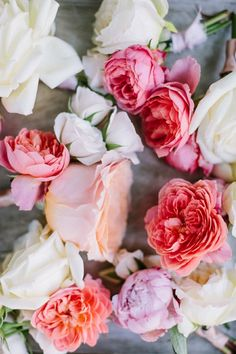 Beautiful - love these flowers in shades of pink with a peach and lilac for contrast.
