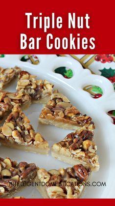 Holiday Treats, Christmas Treats, Christmas Cookies, Recipe Ideas, Great Recipes, Cookie Recipes, Dessert Recipes, Christmas Foods, Desserts To Make