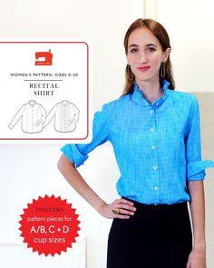 introducing the liesl + co. recital shirt sewing pattern
