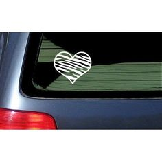 Zebra Print Heart Car Decal Vinyl Sticker