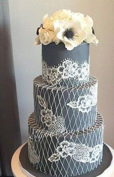 Wedding cake idea; Featured Cake: Elysia Root Cakes