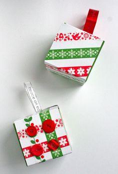 Recycled gift box ornaments thanks to Starbucks. - Mod Podge Rocks