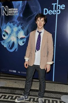 Benedict Cumberbatch. Goofy handsome. AND at The Deep exhibit of the Natural History Museum!!!