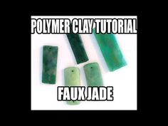 Polymer clay tutorial: faux jade technique - gemstone imitation techniques series - YouTube