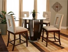 Round Counter Height Dining Sets | ... Counter Height Dining Set with Vinyl Chairs contemporary-dining-tables