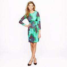 Hothouse floral dress (sleekly tailored silhouette + chic longer sleeves).