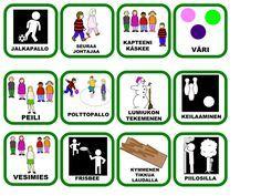 Kortit Physical Education, Special Education, Finnish Language, Physics, Kindergarten, Preschool, Games, Kids, Classroom Ideas