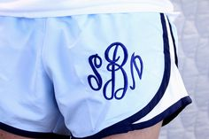 I have these shorts! Looks like the only thing they're missing is a monogram...