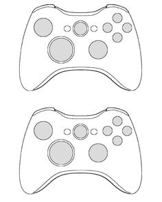 Here is a controller template for the wireless xbox360 controller. I searched around online and couldn't find one so I made one.. this isn't in vector most of it was created with the magi...