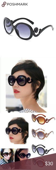⚫️STYLISH BAROQUE ROUND BLACK FRAME SUNGLASSES⚫️ ⚫️STYLISH BAROQUE ROUND BLACK FRAME SUNGLASSES⚫️ Accessories Sunglasses