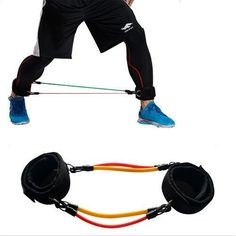 Set of 4 Leg Thigh Latex Resistance Band Gym Fitness Exercise Tube Ankle Straps